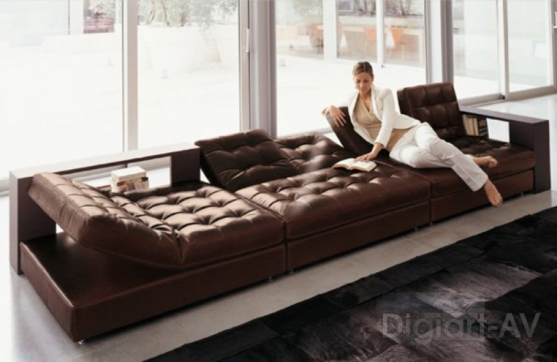 Longhi sofa strike for Sectional sofa with recliner and bed